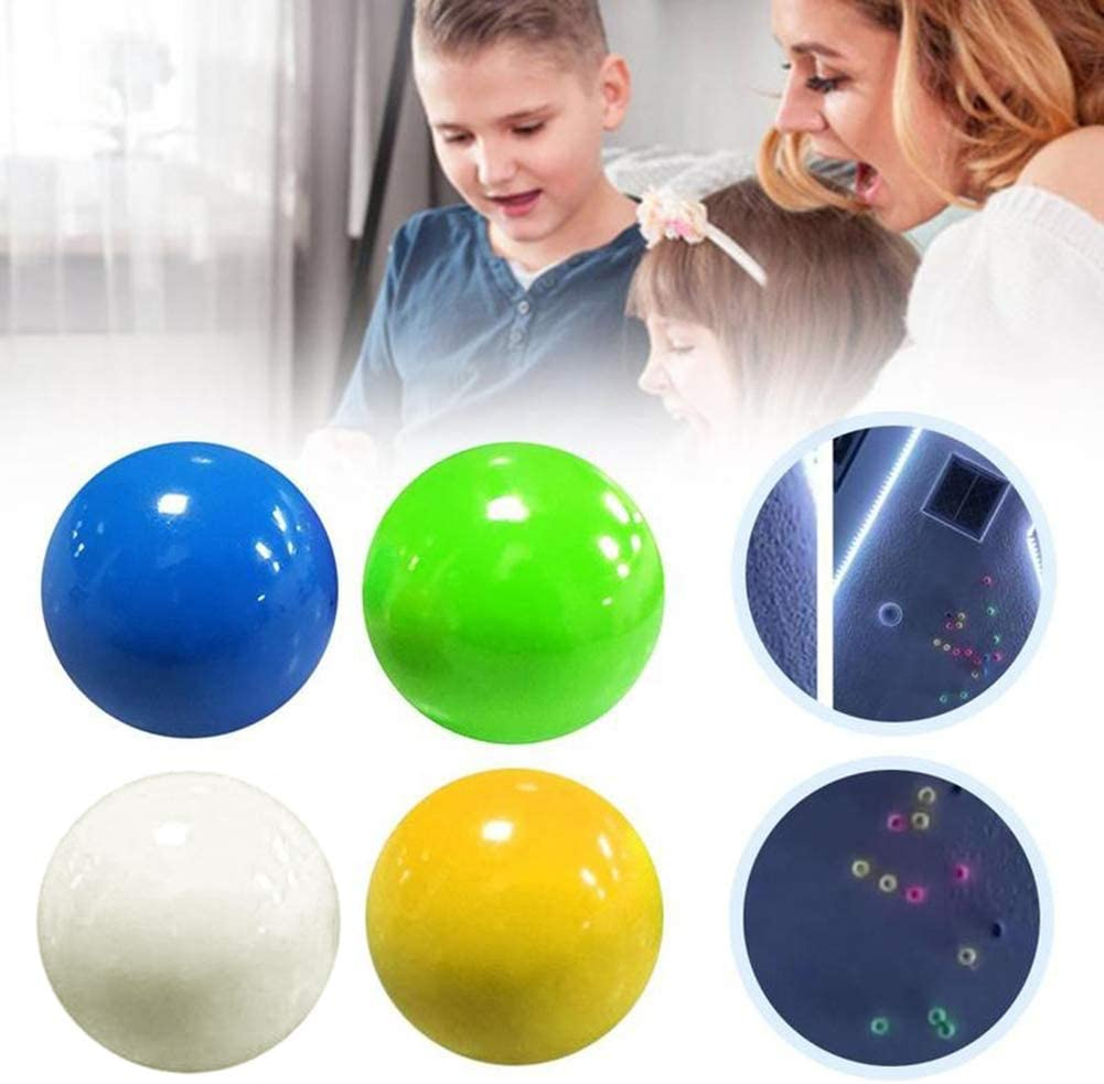 Luminous Sticky Ball Fluorescent Sticky Ceiling Wall Ball Stress Relief Toys hot