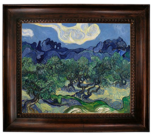Historic Art Gallery The Olive Trees 1889 by Vincent Van Gogh Framed Canvas Print 20