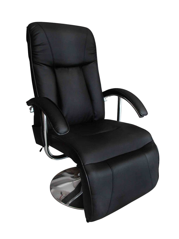 vidaXL Massage elektrisch schwarz und Relaxsessel