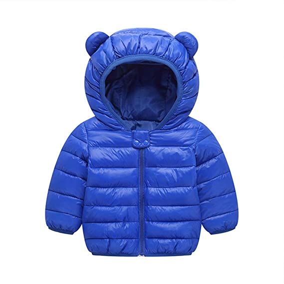 4cf74b1dd Kikole Kids Winter Coats Hoods Light Puffer Down Jacket for Baby ...