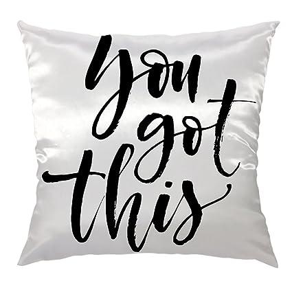 Amazon.com  HGOD DESIGNS Quotes Decorative Pillow Cover 5ca19805dc