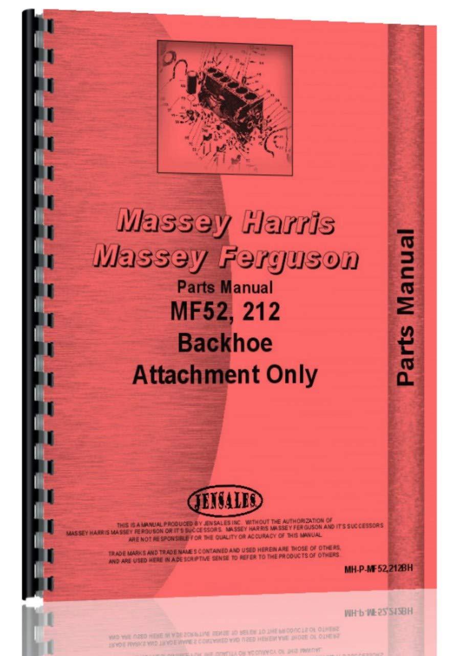 Massey Ferguson 52 Backhoe Attachment Parts Manual by Jensales