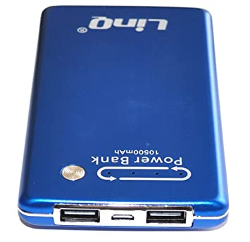 Power Bank-Cargador externo de batería doble toma USB 10500 ...