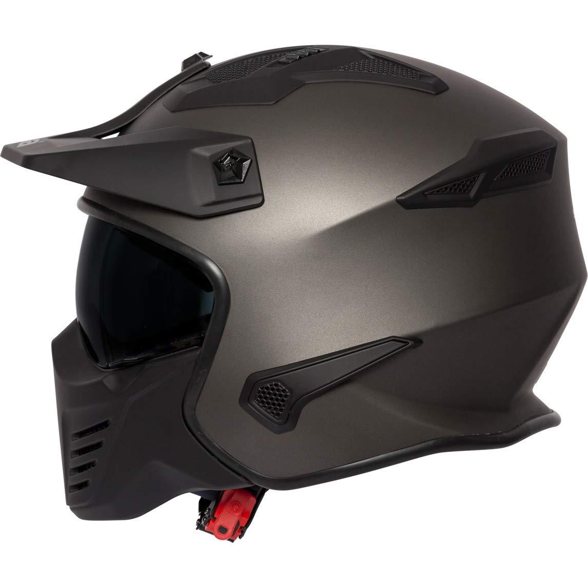 Spada Storm Motorcycle Helmet Peak Sun Visor Open Face Full Matt Black J/&S
