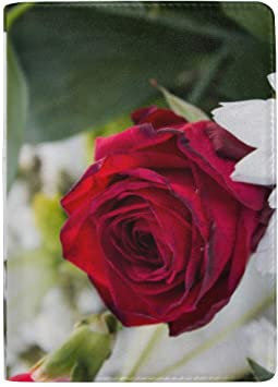 Estuche de Cuero con Funda de Pasaporte para Mujer, Hombres, Flores Personalizadas, Flores, Amor: Amazon.es: Equipaje