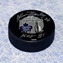 Allan Stanley Toronto Maple Leafs Signed 1967 Stanley Cup Puck with HOF Note