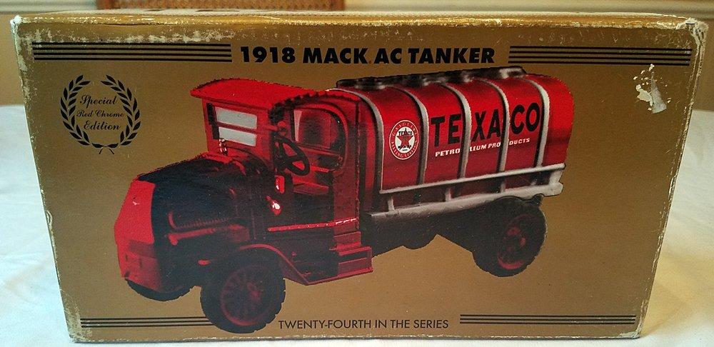 Texaco Red Chrome 1918 Mack AC Bulldog Tanker Bank by ERTL