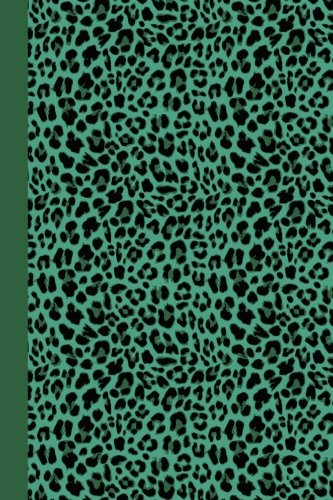 Journal: Animal Print (Green Leopard) 6x9 - GRAPH JOURNAL - Journal with graph paper pages, square grid pattern