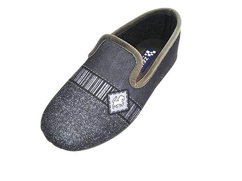 LA ZAPATILLERIA - Zapatilla de Andar por casa Cerrada Caballo Ceniza: Amazon.es: Zapatos y complementos