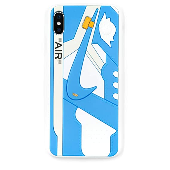 fefec9c854b40 iPhone Shoe Case Chicago/White 1's Official 3D Print Textured Shock  Absorbing Protective Sneaker Fashion Case (iPhone 6/6s)