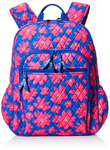 Women's Campus Tech Backpack, Signature Cotton, Art Poppies by Vera Bradley