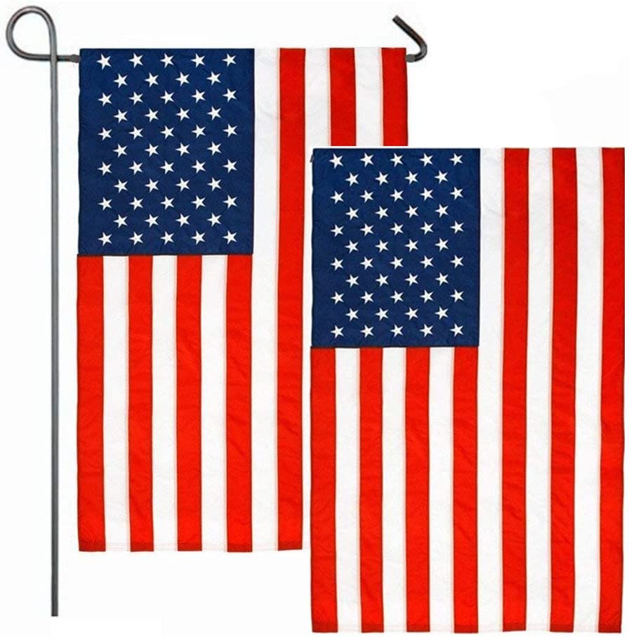 "2 Pack American Flag, 12"" X 18"" US Flag, USA Garden Flag"