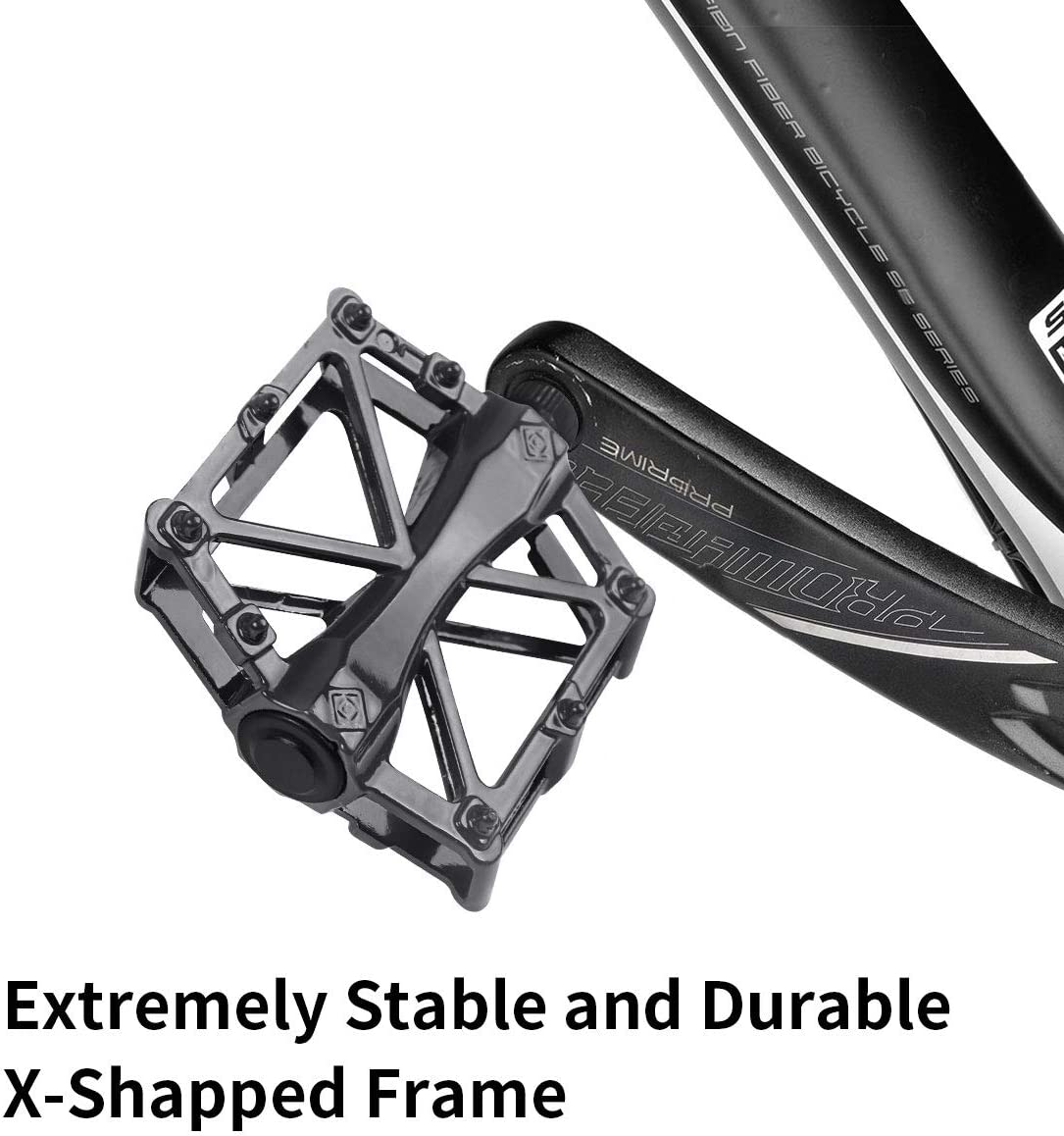 Mountain Bike Pedals Aluminum CNC Bearing Bicycle Pedals Lightweight Platform Pedals Road Bike Pedals with 16 Anti-skid Pins 9//16 Spindle Bike Pedal for BMX//MTB Bike Bike pedals