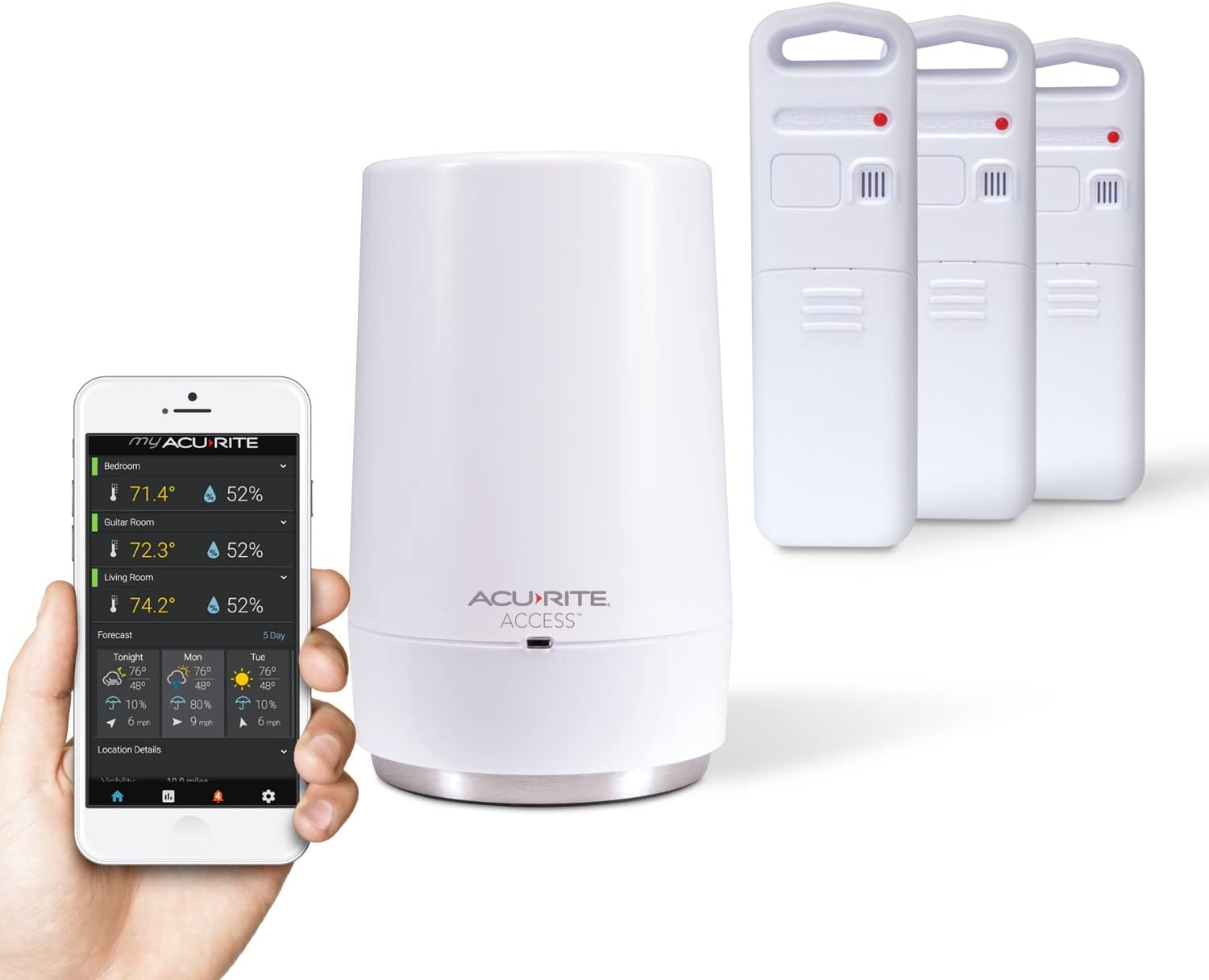 AcuRite 01006M Temperature and Humidity Monitoring System Access for Remote Monitoring, Compatible with Amazon Alexa
