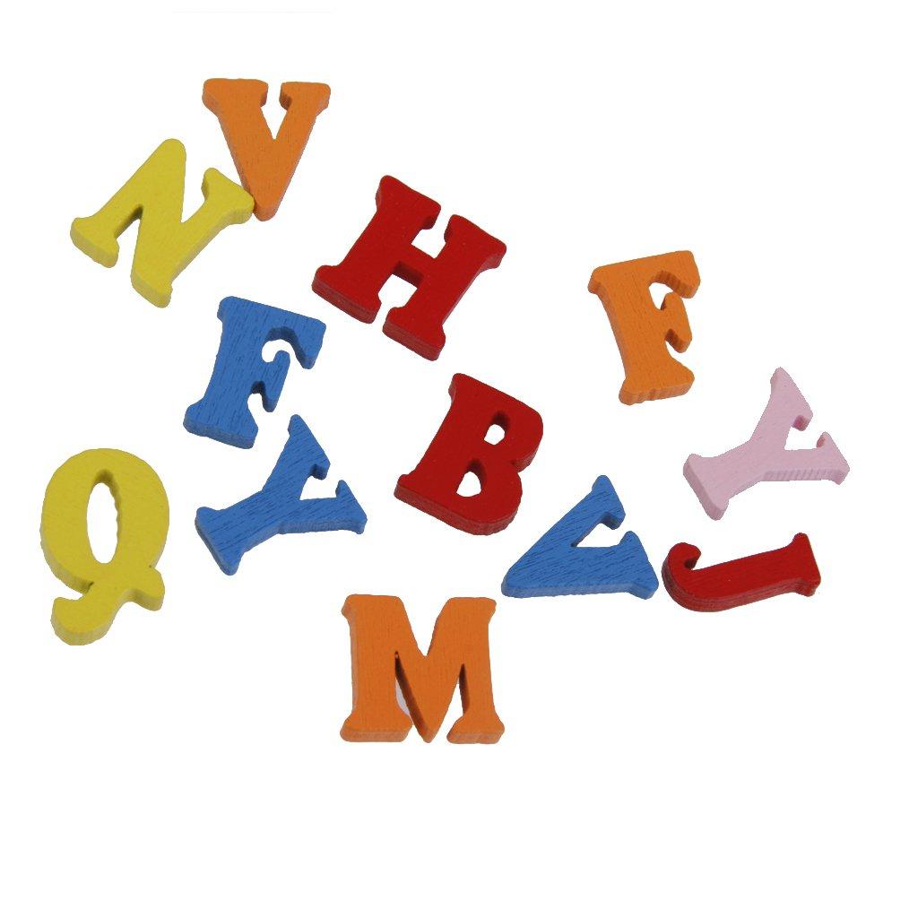 Holzzahlen Buchstaben-Alphabet Bastelzahlen one Size #1 100x Holzbuchstaben