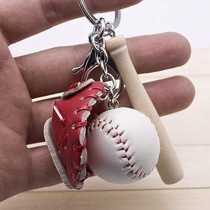 Dfhdfsg pequeños Guantes de béisbol de Tres Piezas Llavero ...