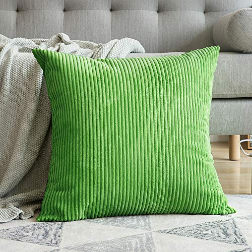 (MIULEE Corduroy Soft Soild Decorative Square Throw Pillow Covers Cushion Cases Pillowcases for Couch Sofa Bedroom Car 18 x 18 Inch 45 x 45 cm)
