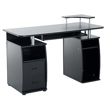 Homcom Computertisch Schreibtisch Bürotisch Mit Druckerablage Pc