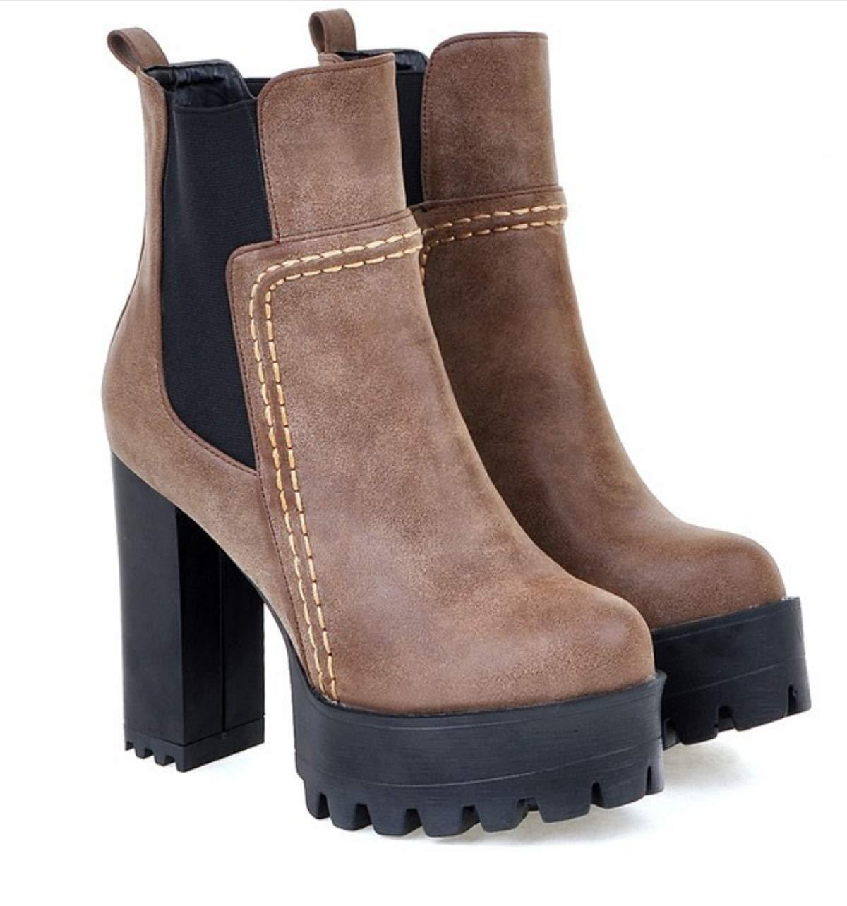 HBDLH Damenschuhe Harte Sohle 12Cm Hochhackigen Stiefeln Stiefeln Stiefeln Sexy. 3d0506