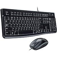 Logitech MK120 - Pack de teclado y ratón (QWERTY Español), negro