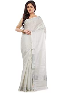 2c18988d624 R SELVAMANI TEX Women s Cotton Kerala Kasavu Tissue Saree with ...