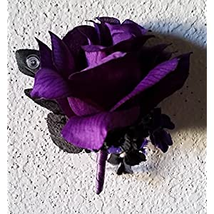 Purple Black Rose Corsage or Boutonniere 107