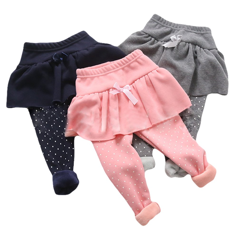 TAIYCYXGAN Little Kid Girls Culottes Skirts Cotton Leggings Pants 2-7T