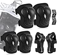 Kids/Youth Protective Gear Set, Kids Knee Pads and Elbow Pads Wrist Guard Protector 6 in 1 Protective Gear Set