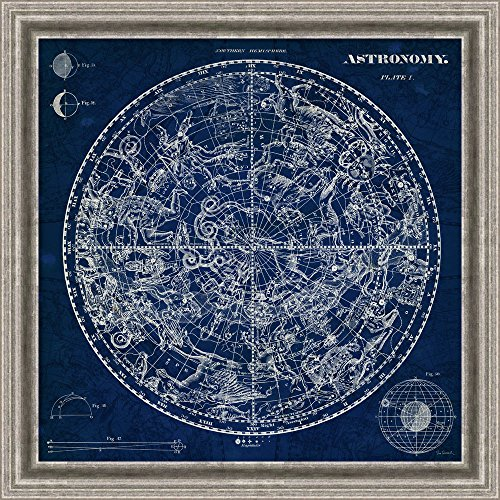 Canvas Art Framed 'Celestial Blueprint' by Susan Schlabach