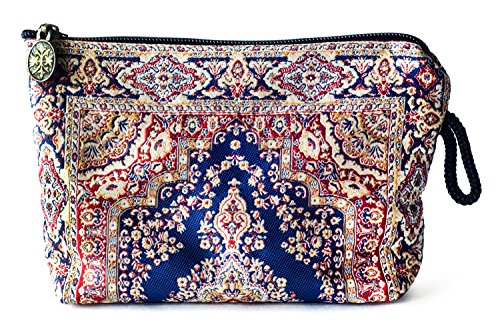 Oriental Fabric Case (Oriental Carpet Woven Cosmetic Makeup Bag - Balouchi Collection)