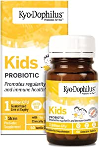 Kyo-Dophilius Kids Probiotic, Promotes Regularity and Immune Health*, 60 tablets (Packaging may vary)