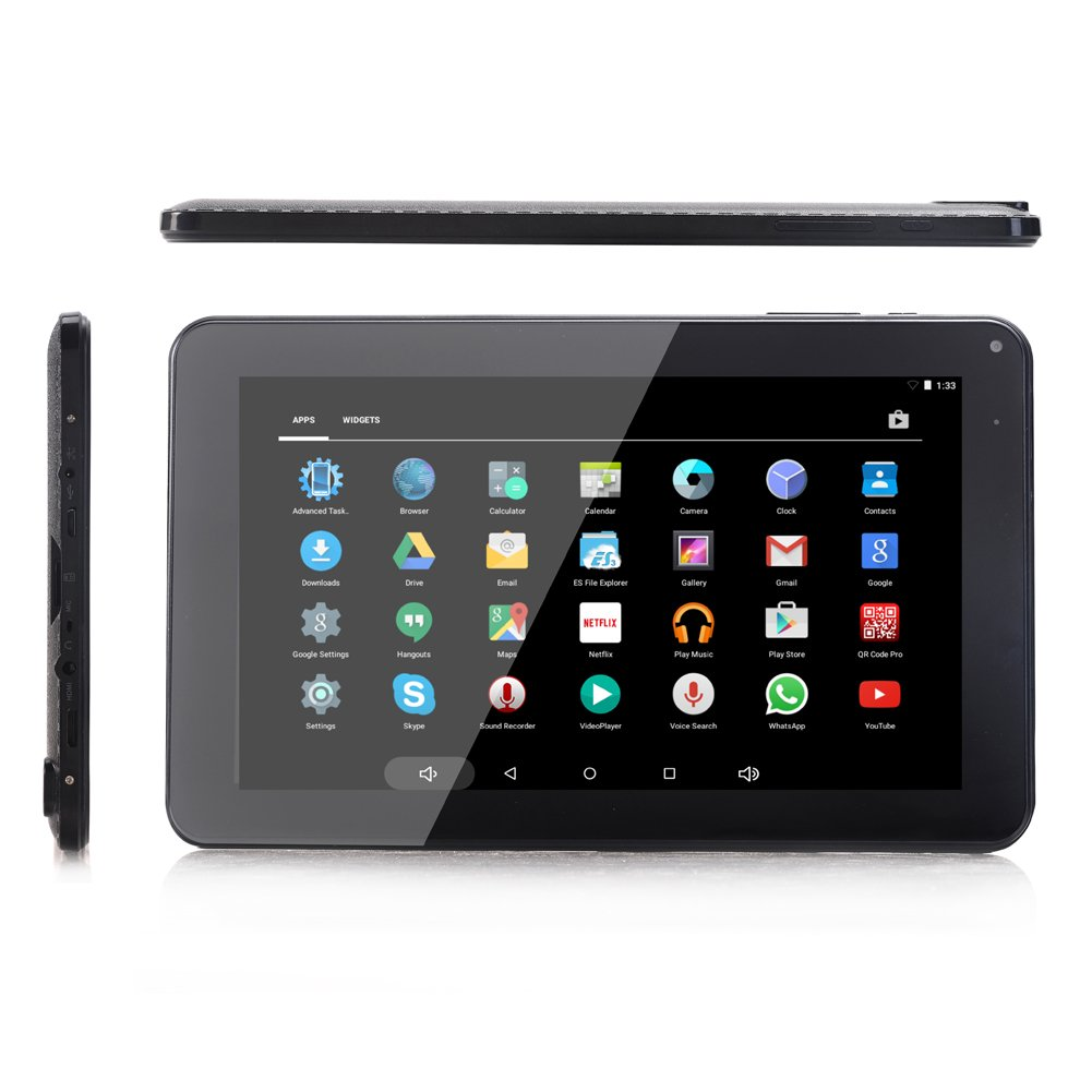 Goldengulf Black 9'' Inch Quad Core Google Android 4.2 Jelly Bean Tablet PC 8GB Multi Touch Screen Dual Camera WIFI Bluetooth G-Sensor