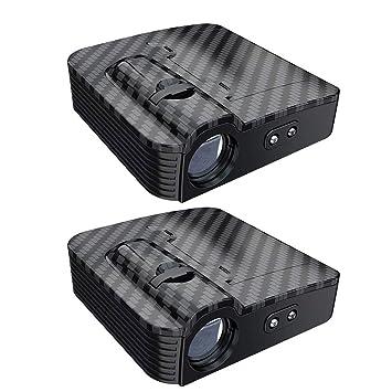 2 proyectores inalámbricos LED para automóvil, proyectores ...
