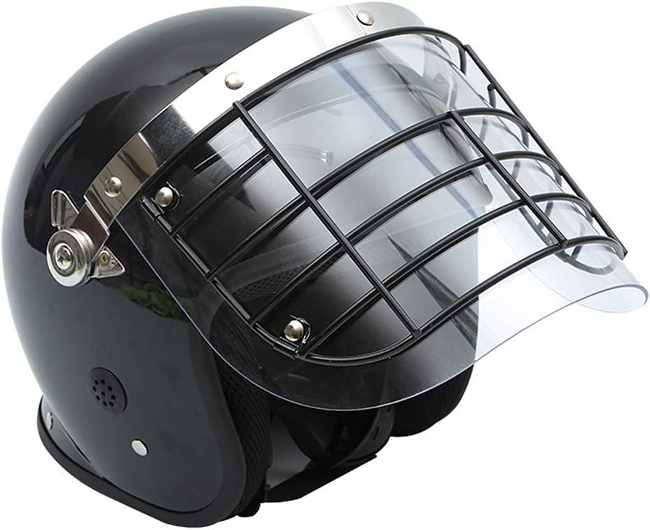 QZY Cascos de Seguridad de Protección Personal Genuino, Malla de Acero de Cara Completa Máscara Resistente a los Golpes Sombrero Duro