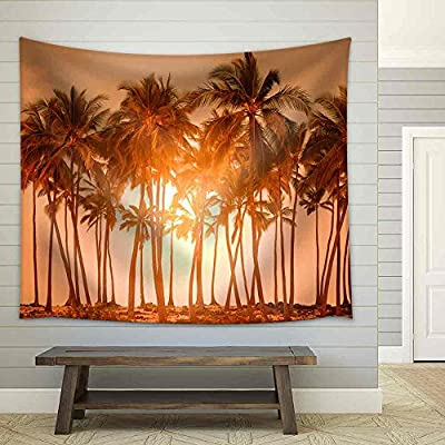 Lovely Piece, Premium Product, Tropical Beach Fabric Wall