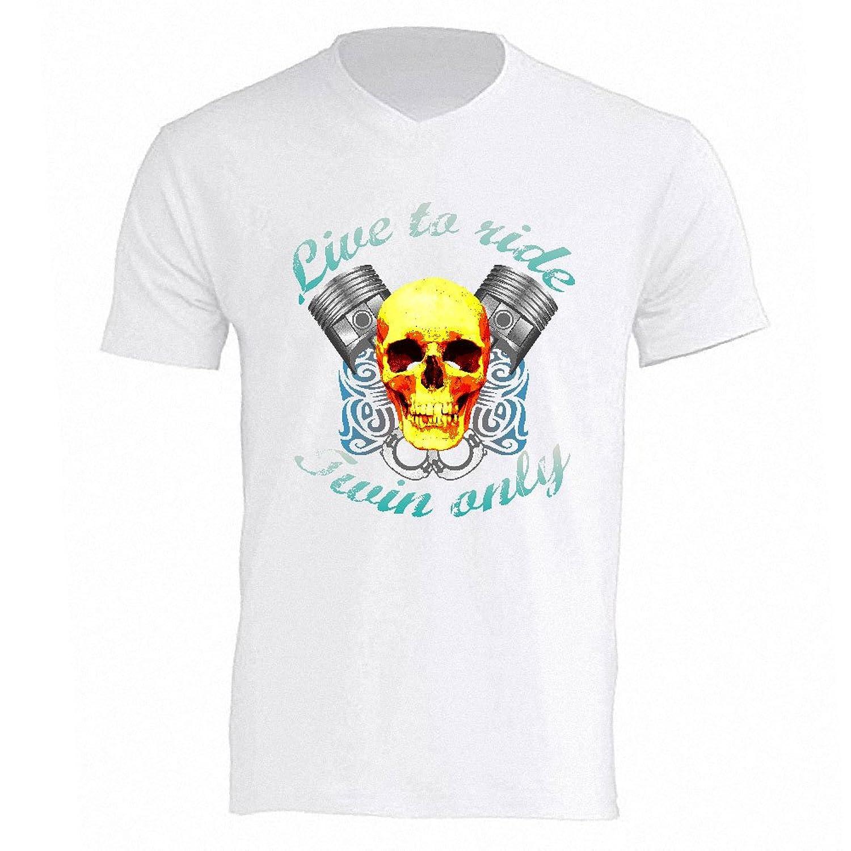 Live To ride White Tee Shirt