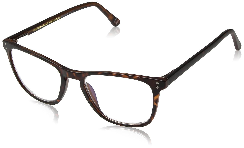 5f33a22611dee Amazon.com  Foster Grant Unisex-Adult Camden Multifocus Glasses  1018254-100.COM Rectangular Reading Glasses