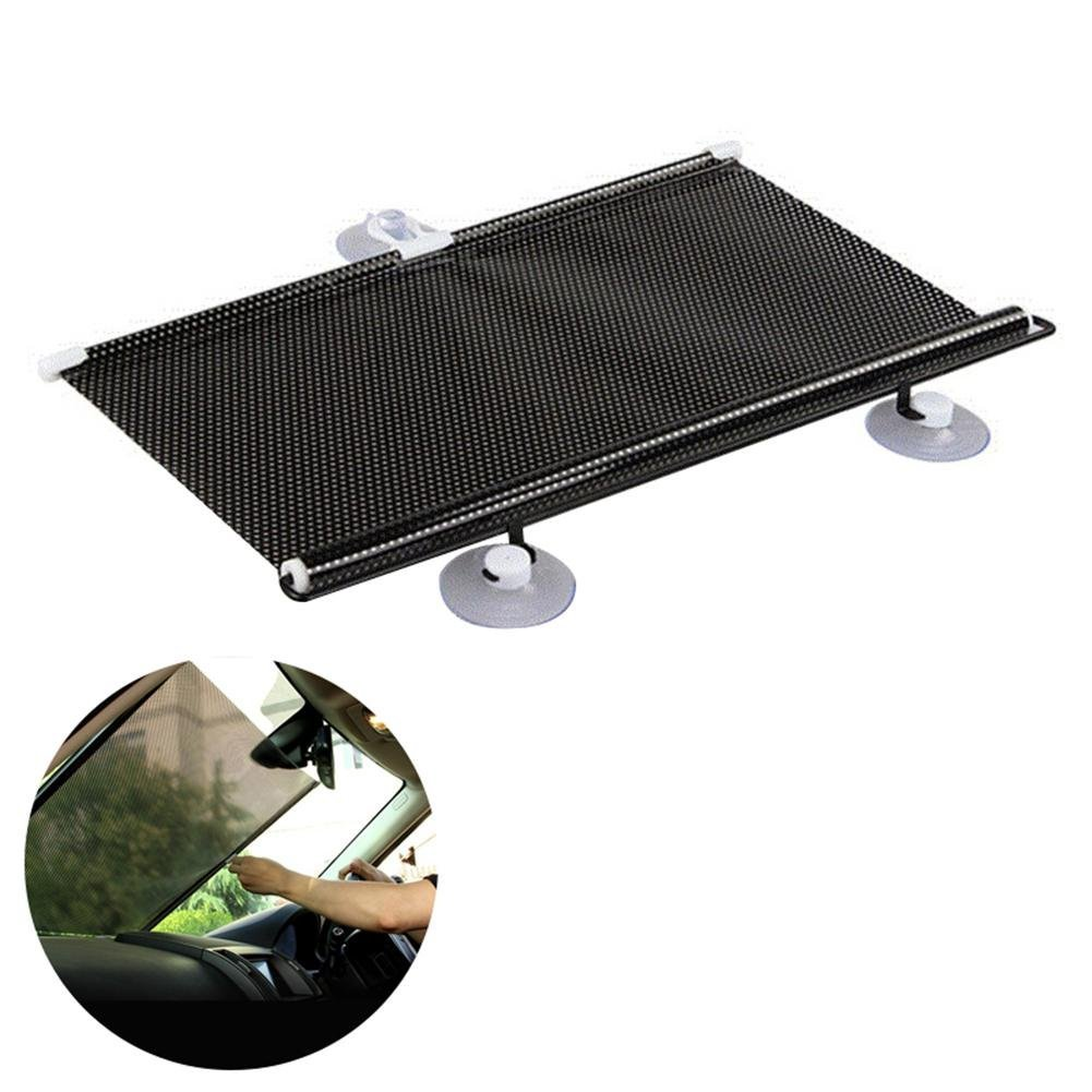 Sunshield for Car Windshield, Foldable Car Windshield Sun Shade Retractable Sunshade Car Roller Blinds, Blocks Sun, Glare and UV Rays For a Cooler Car, Fit for Front and Rear Windows Aolvo