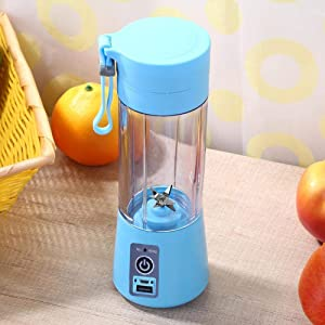Portable Juicer Blender, Household Fruit Mixer - Six Blades in 3D, 380ml Fruit Mixing Machine with USB Charger Cable for Superb Mixing, USB Juicer Cup(Pink)