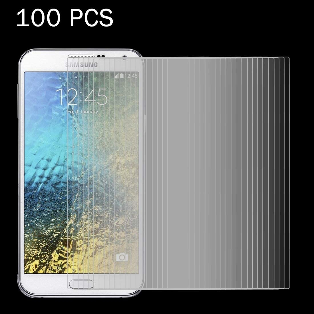 HUFAN 100 PCS for Galaxy E7 E700 0.26mm 9H Surface Hardness 2.5D Explosion-Proof Tempered Glass Screen Film Phone Glass Film