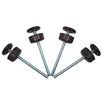 4 Spindle Rods For Pressure Mounted Gates Replacement Set 8mm Extra Long M8
