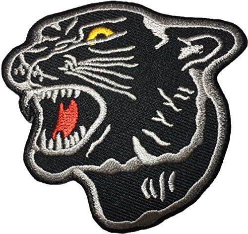 Panther Animal DIY Sewing on Iron on Applique Embroidered Patch by Ranger Return - Black (IRON-PANTHER-BK)