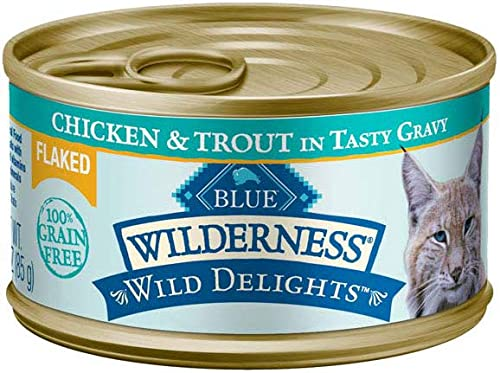 Blue Wilderness Wild Delights Grain Free Flaked Meaty Morsels Canned Wet Cat Food Variety Pack