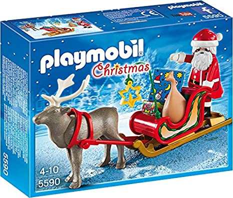 Babbo Natale Con Le Renne.Playmobil 5590 Slitta Con Babbo Natale E Renna Amazon It Giochi