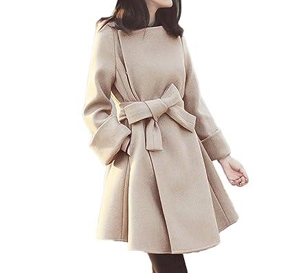 Damen Warmen Gemütlichen Wollmantel Mode Einfachen Mantel Karamell ...