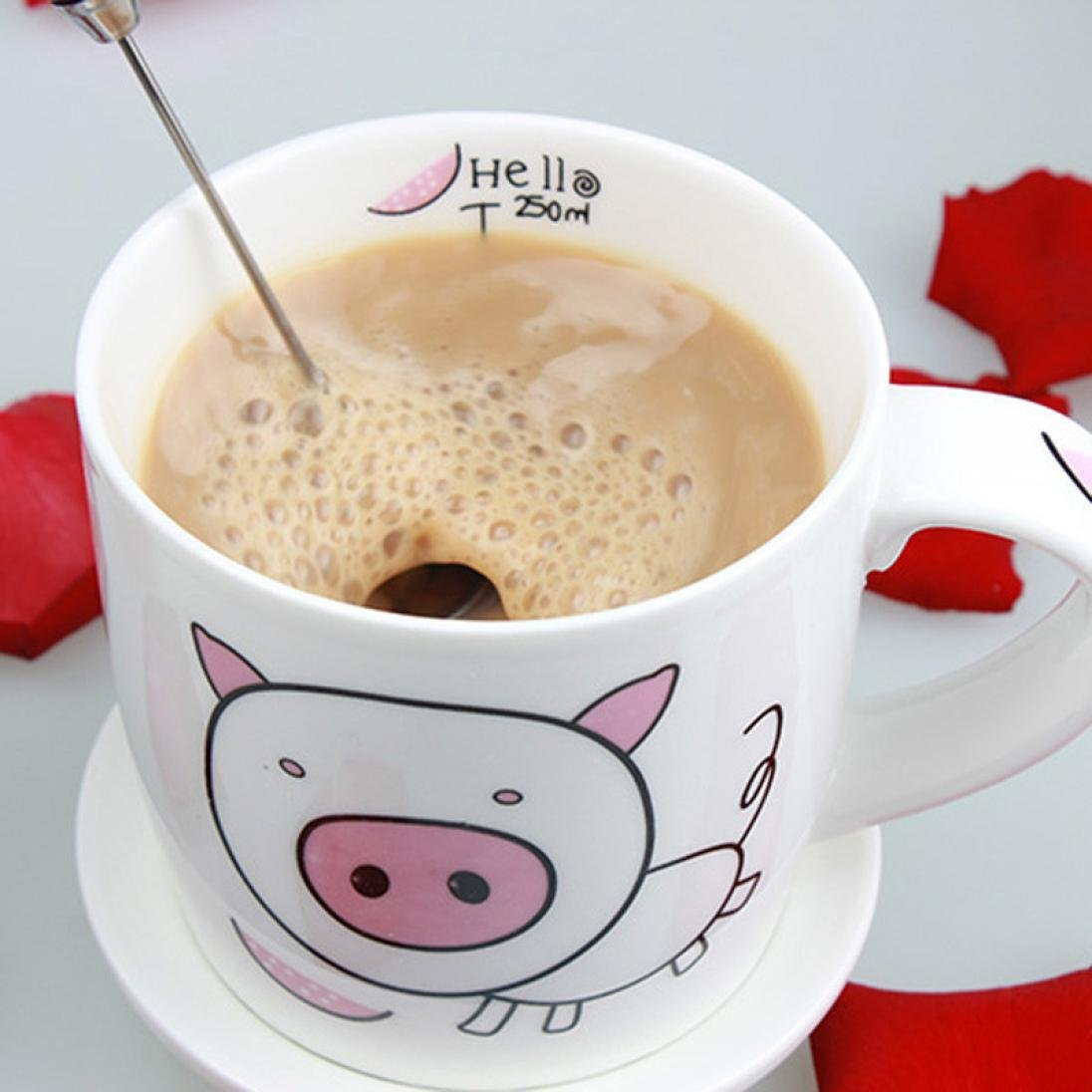 Iuhan Drinks Milk Frother Foamer Whisk Mixer Stirrer Egg Beater (Coffee) by Iuhan (Image #6)