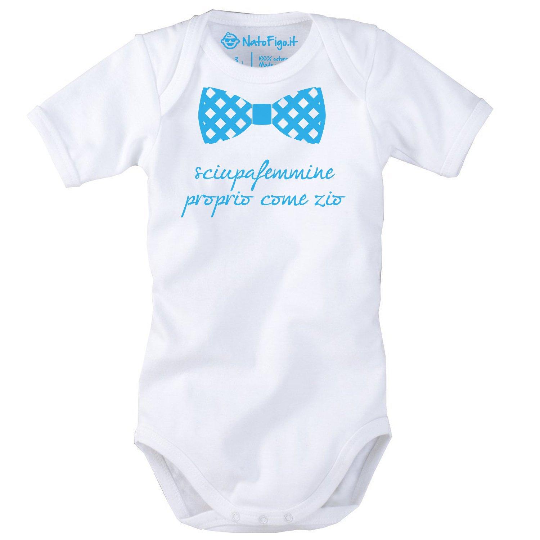 Body neonato mezza manica Sciupafemmine come zio 100/% cotone