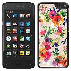 Amazon Fire Phone Único Patrón Plástico Duro Fundas Cover Cubre Hard Case Cover - Flower Bouquet Pattern Wallpaper
