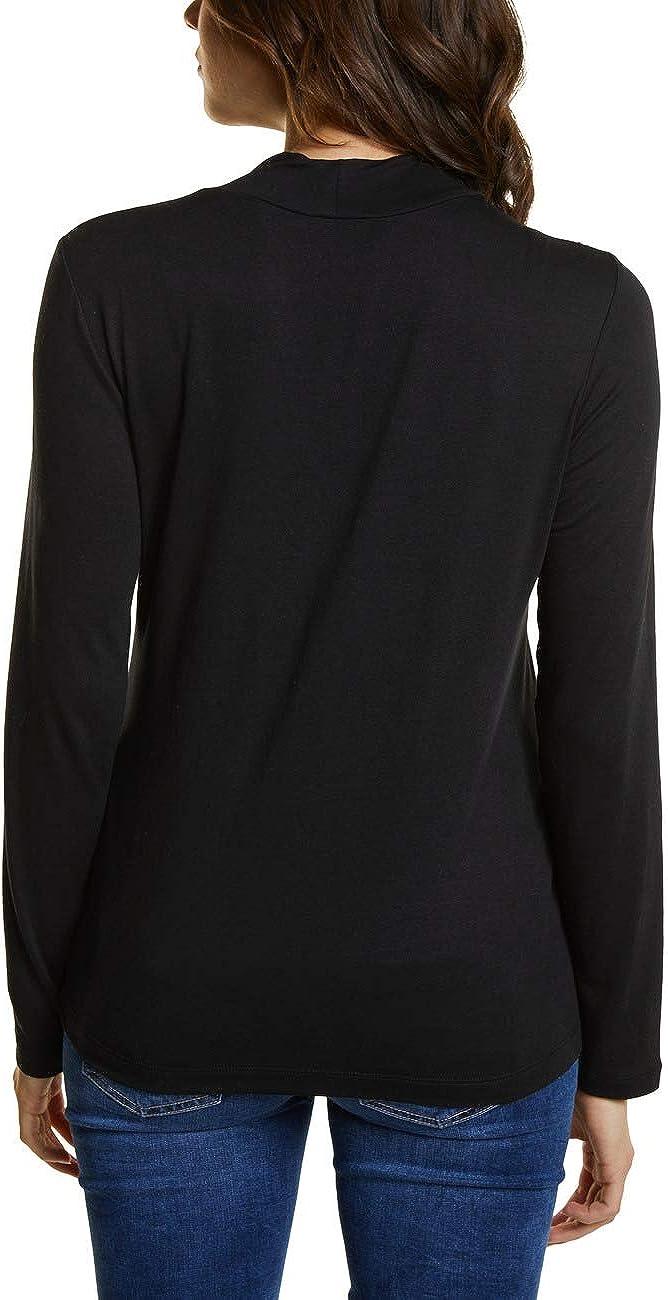 Street One 312812 T-Shirt /À Manches Longues Noir Taille Fabricant: 42 44 Black 10001 Femme
