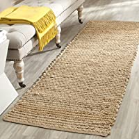 Safavieh Cape Cod Collection CAP355A Hand Woven Flatweave Natural Jute Runner (23 x 18)